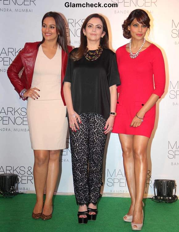 Celebs at New Marks and Spencer Store Launch