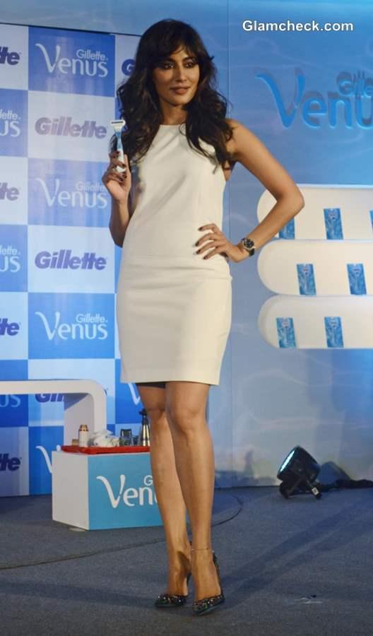 Chitrangada Singh in white dress at Gillette Venus Razor Launch