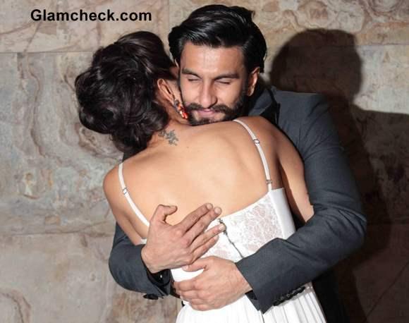 Deepika Padukone Ranveer Singh at Ram Leela Screening