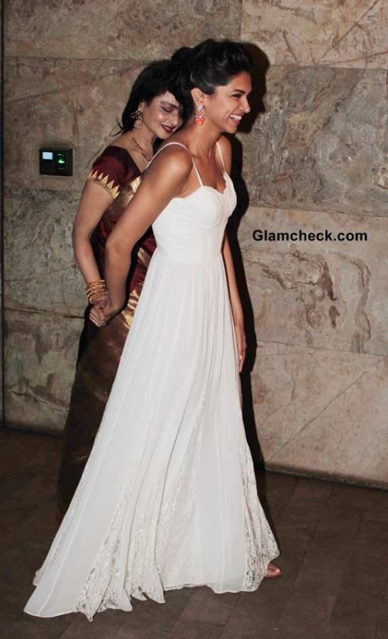 Deepika Padukone Rekha at Ram Leela Screening