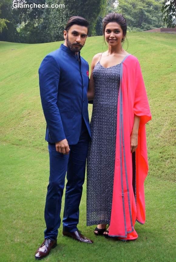 Deepika Padukone and Ranveer Singh Promote Ram-Leela in New Delhi
