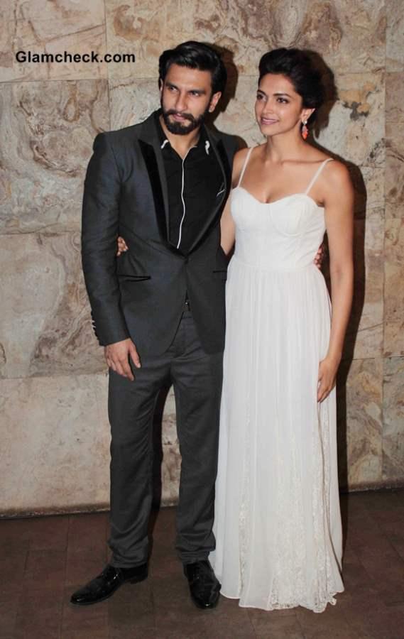 Deepika Padukone and Ranveer Singh at Ram Leela Screening