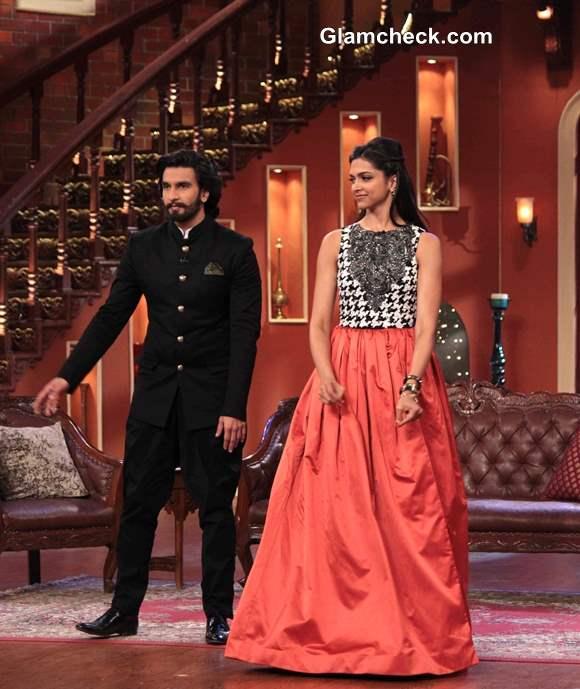 Deepika Padukone and Ranveer Singh on Comedy Nights with Kapil