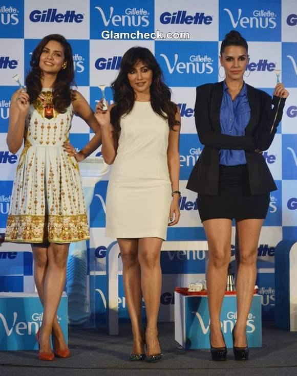 Esha Gupta Chitrangada Singh and Neha Dhupia Launch Gillette Venus Razor
