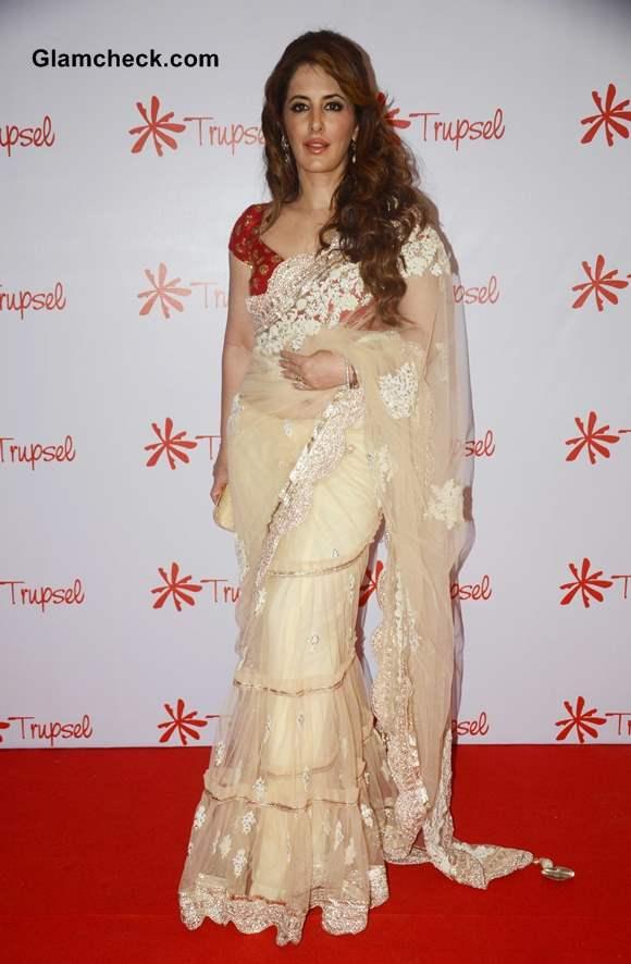 Fashion designer Pria Kataria Puri in sari at Trupsel Store Launch