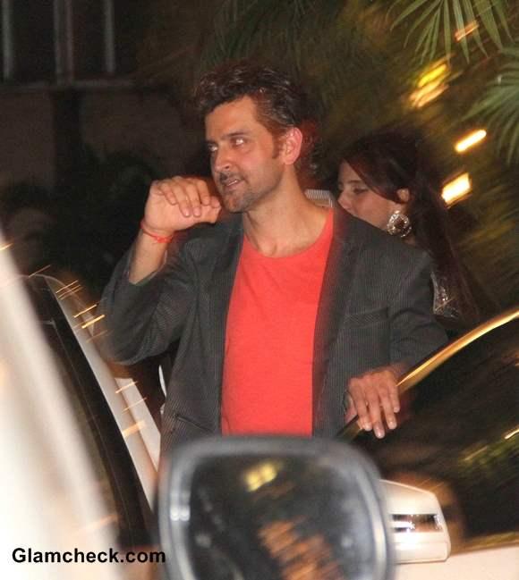 Hritik Roshan at  Bachchan Diwali Party 2013