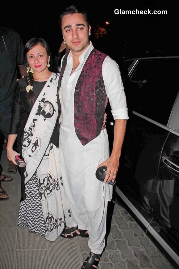 Imran Khan along with his wife Avantika at Aamir Khan Diwali Party