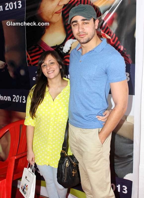 Imran Khan with wife Avantika at Pet Adoption 2013
