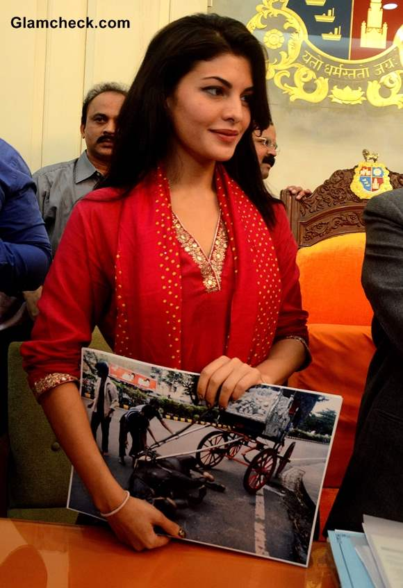 Jacqueline Fernandez Fights to Ban Horse-drawn Carriages Mumbai