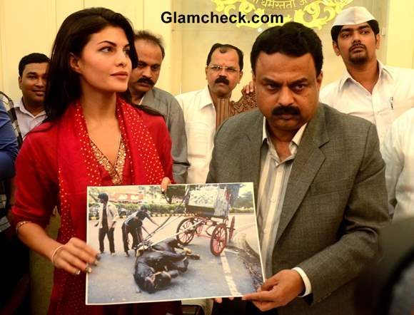 Jacqueline Fernandez Fights to Ban Horse-drawn Carriages in Mumbai