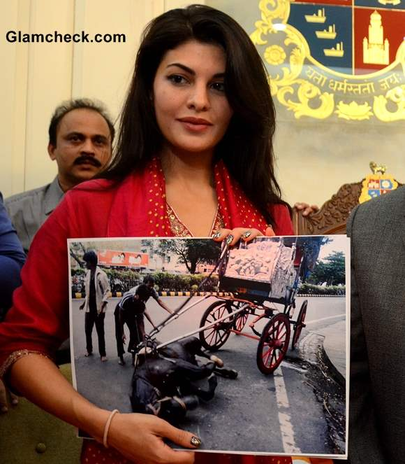 Jacqueline Fernandez Fights to Ban Horse-drawn Carriages pictures