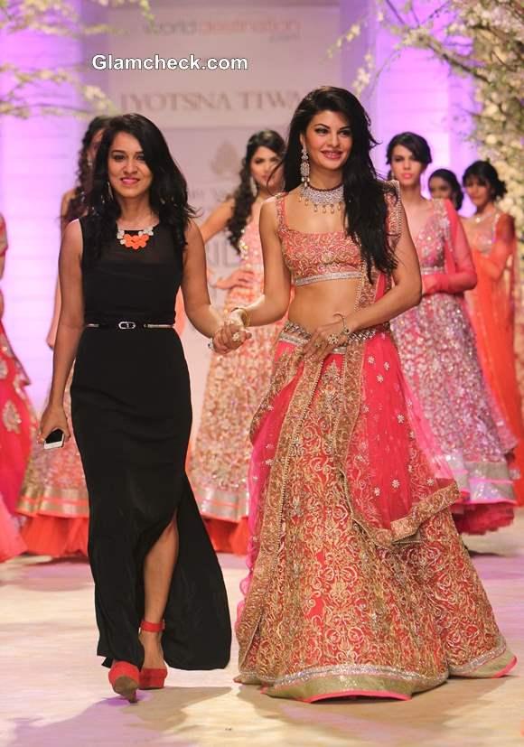 Jacqueline for Jyotsna Tiwari at India Bridal Fashion Week 2013