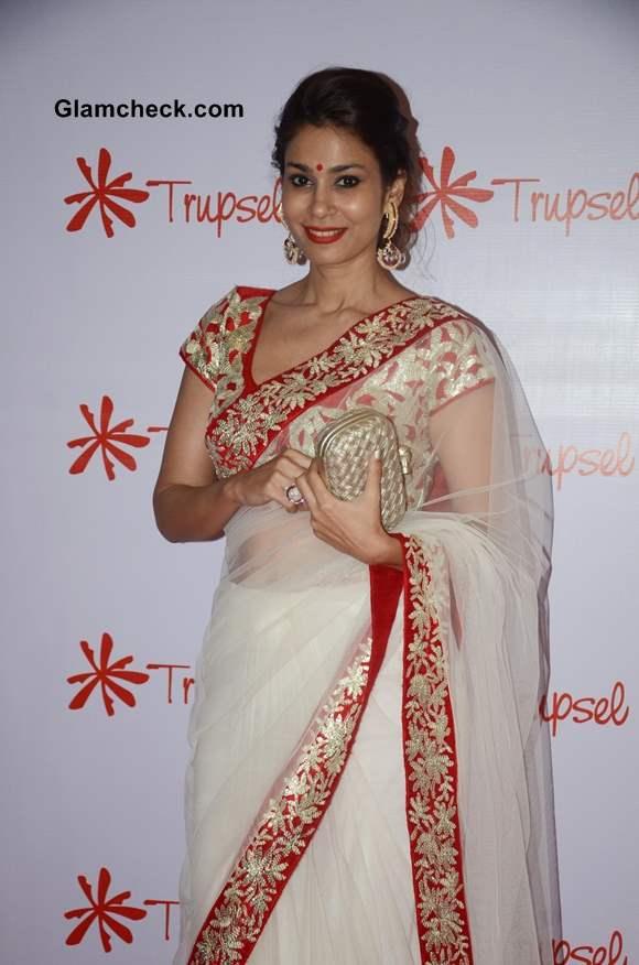 Jewellery designer Shaheen Abbas in sari