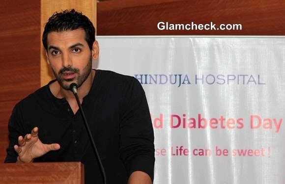 John Abraham Promotes Diabetes Awareness Program 2013