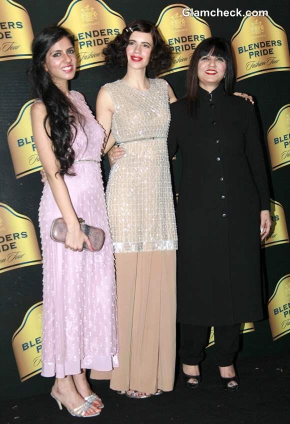 Kalki Koechlin Walks for Neeta and Nishka Lulla at Blenders Pride Fashion Tour 2013 Mumbai