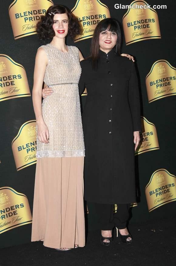 Kalki Koechlin for Neeta Lulla at Blenders Pride Fashion Tour 2013 Mumbai