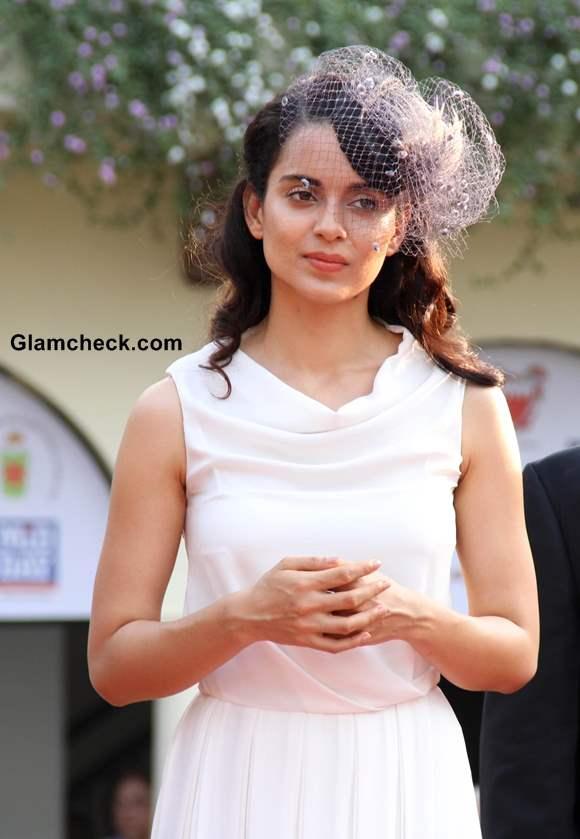 Kangana Ranaut 2013 in White Gown