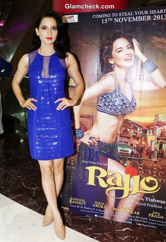 Kangana Ranaut Glamorous in Blue Sequinned Dress at Rajjo Promo