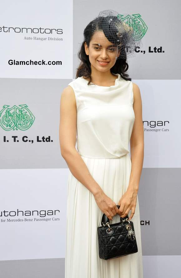 Kangana Ranaut Sports White Gown 2013 at the Races