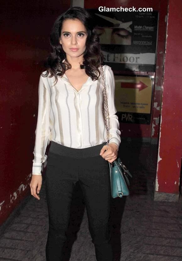 Kangana Ranaut at Gori Tere Pyaar Mein Special Screening