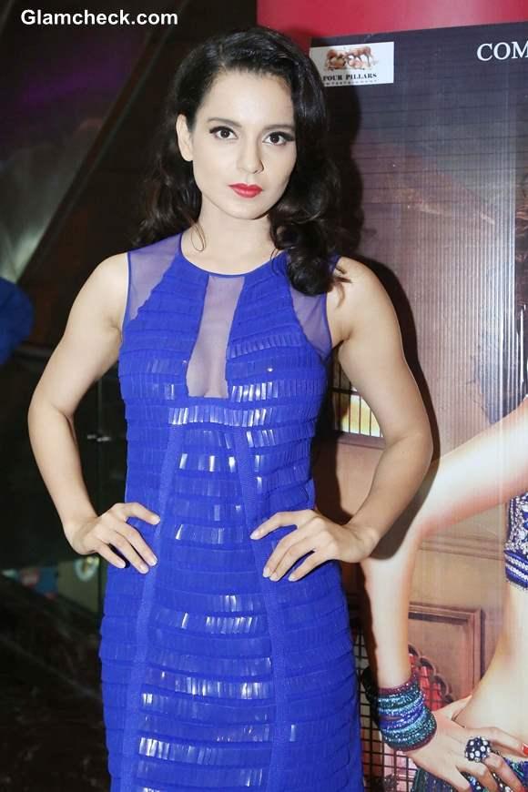 Kangana Ranaut in Blue Dress at Rajjo Promo