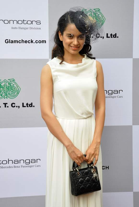 Kangana Ranaut in White Gown at the Races