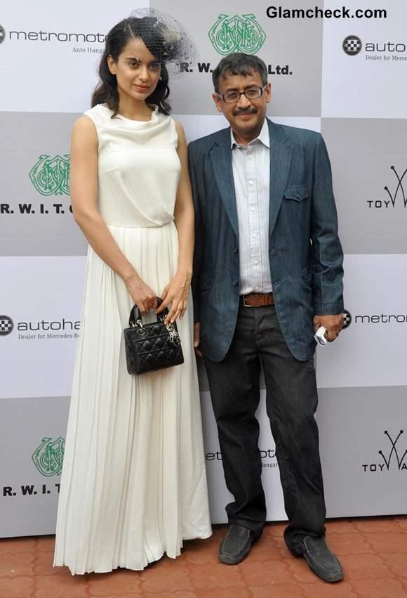 Kangana Ranaut with Vivek Jain Chairman RWITC