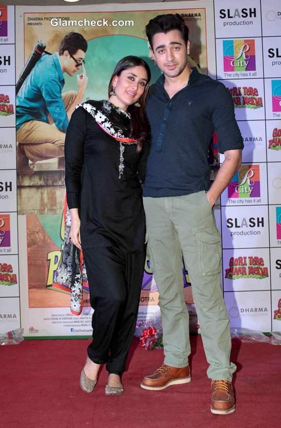Kareena Kapoor Imraan Khan at Gori Tere Pyaar Mein Promo