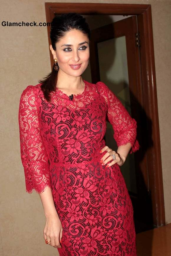 Kareena Kapoor Red Lace Dress Latest Pictures