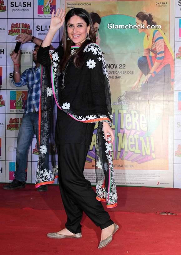 Kareena Kapoor in Black Salwar Kameez Gori Tere Pyaar Mein Promo