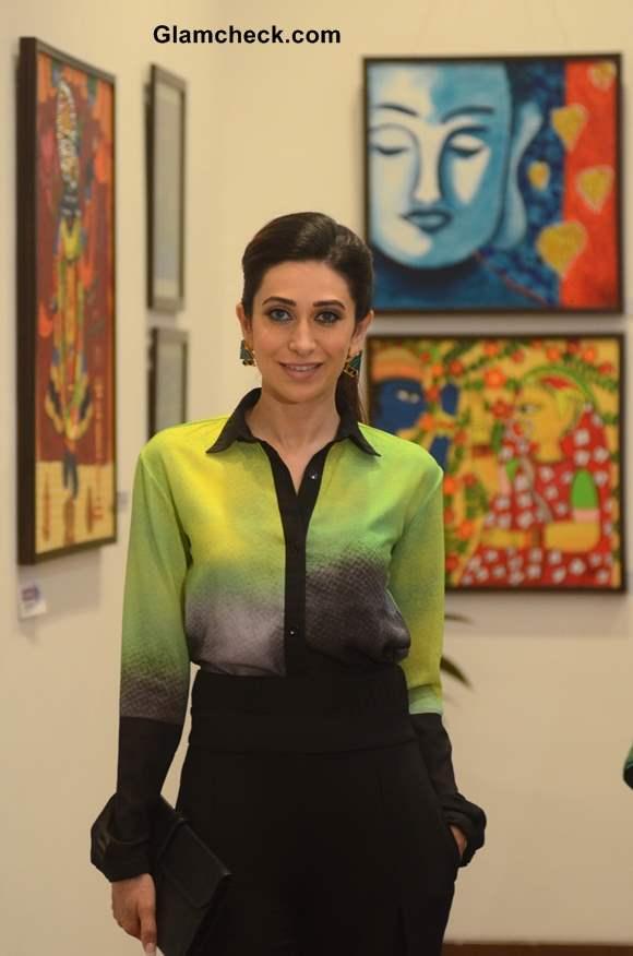 Karisma Kapoor Inaugurates Bal Disha Art Exhibition in Mumbai