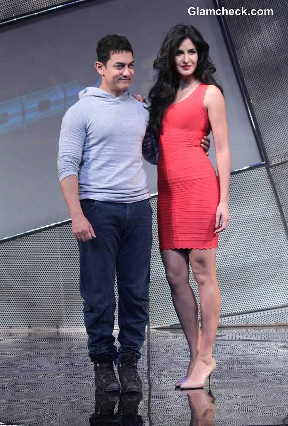Katrina Kaif Aamir Khan Pictures at Dhoom 3 Merchandise Launch