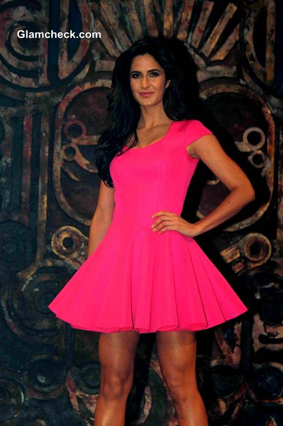 Katrina Kaif Stunning in Pink Dress at Dhoom 3 Title Song Launch