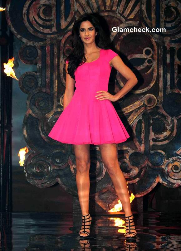 Katrina Kaif in Pink Dress at Dhoom 3 Title Song Launch