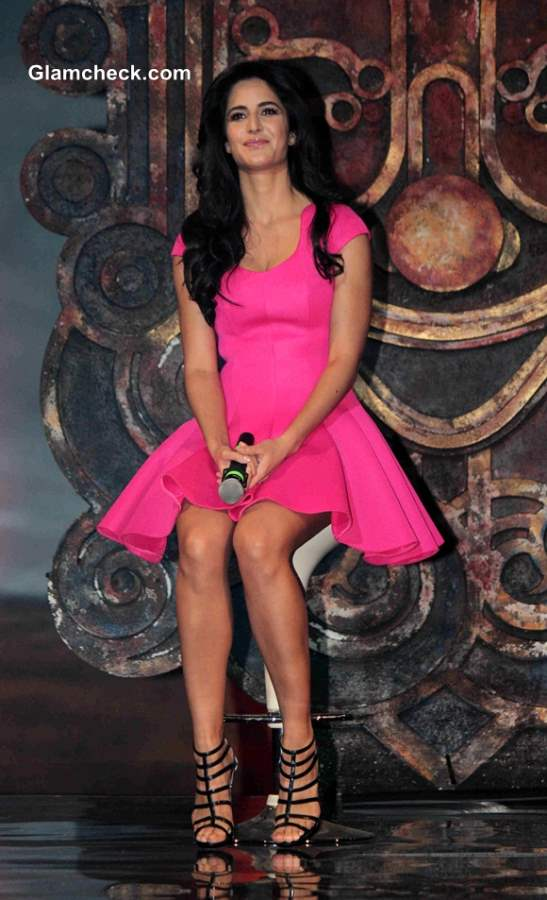 Katrina Kaif in little Pink Dress at Dhoom 3 Title Song Launch