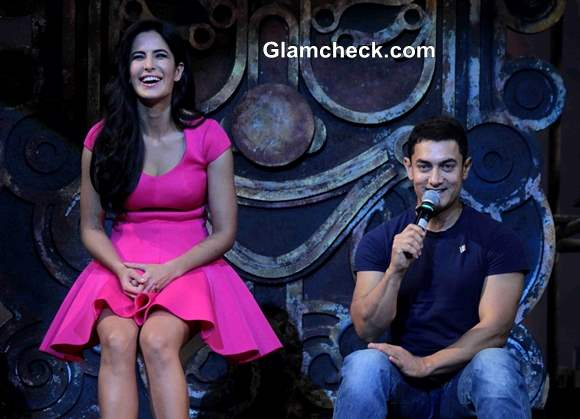 Katrina and Aamir at Dhoom 3 Title Song Launch
