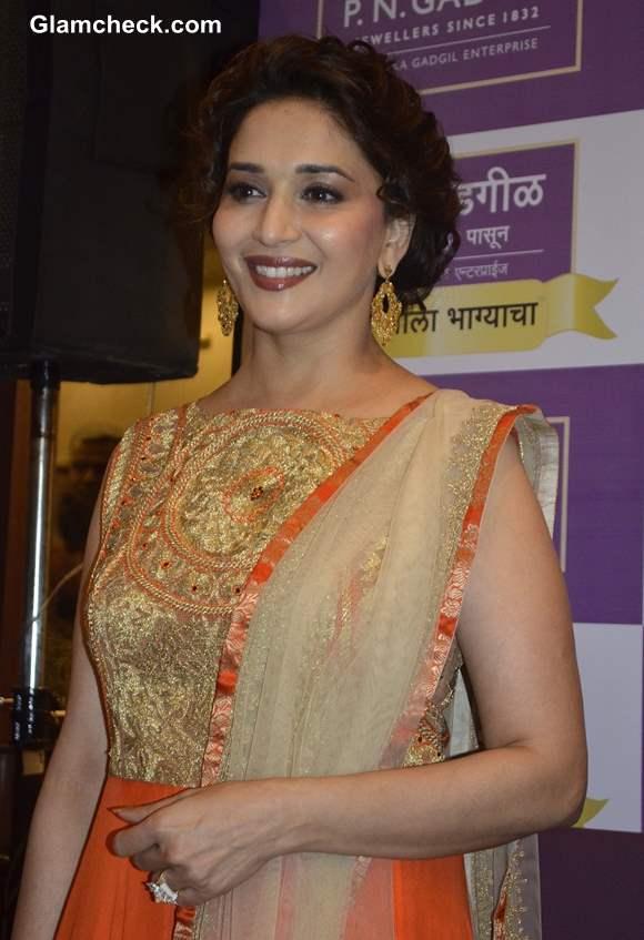 Madhuri Dixit in Gorgeous Orange Anarkali