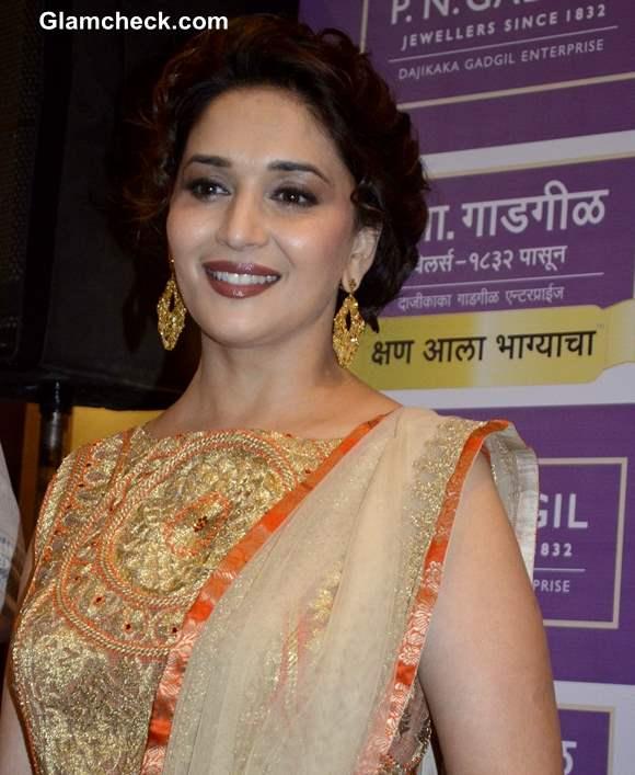 Madhuri Dixit in Orange Anarkali