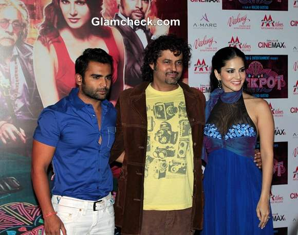 Main cast of Jackpot Release Theatrical Trailer in Mumbai