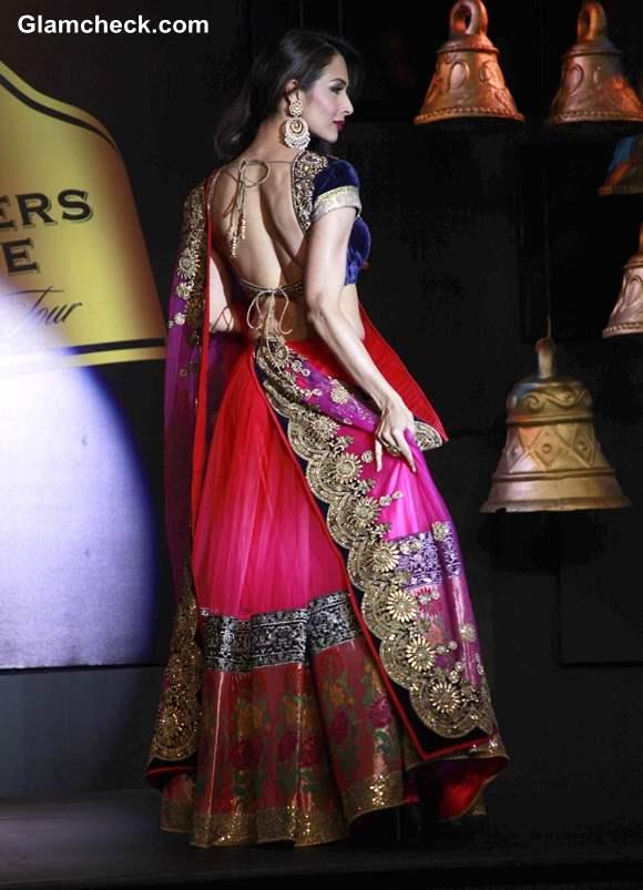 Malaika Arora Khan Pink Lehenga at Blenders Pride Fashion Tour 2013