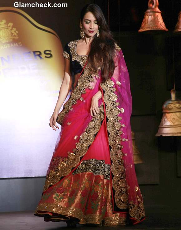 Malaika Arora Khan in Vikram Phadnis Pink Lehenga at Blenders Pride Fashion Tour 2013