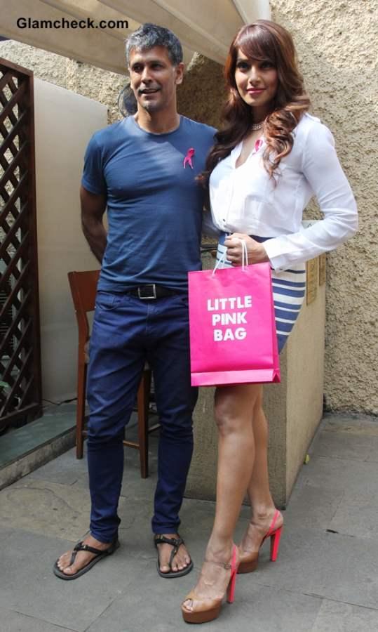 Milind Soman and Bipasha Basu for Breast Cncer Awareness