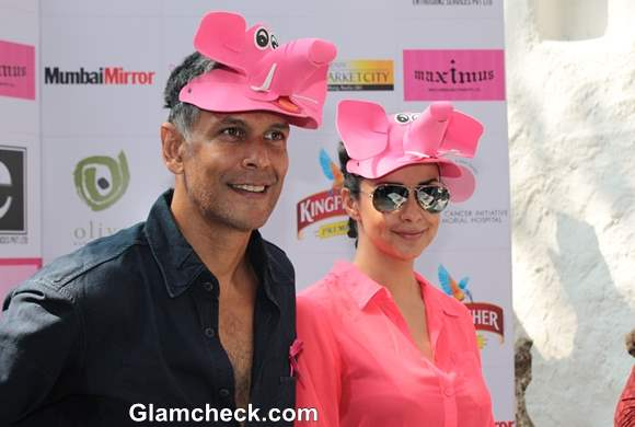 Milind Soman and Gul Panag Announce Pinkathon Mumbai 2013