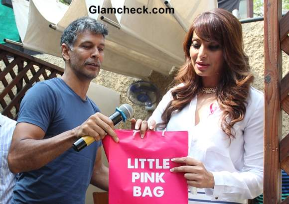 Milind and Bipasha for Breast Cancer Awareness