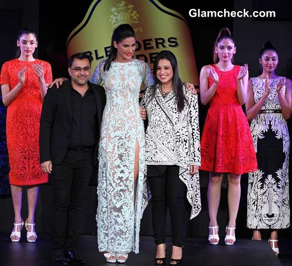 Nargis Fakhri Showstopper for Pankaj and Nidhi Blenders Fashion Pride Tour 2013