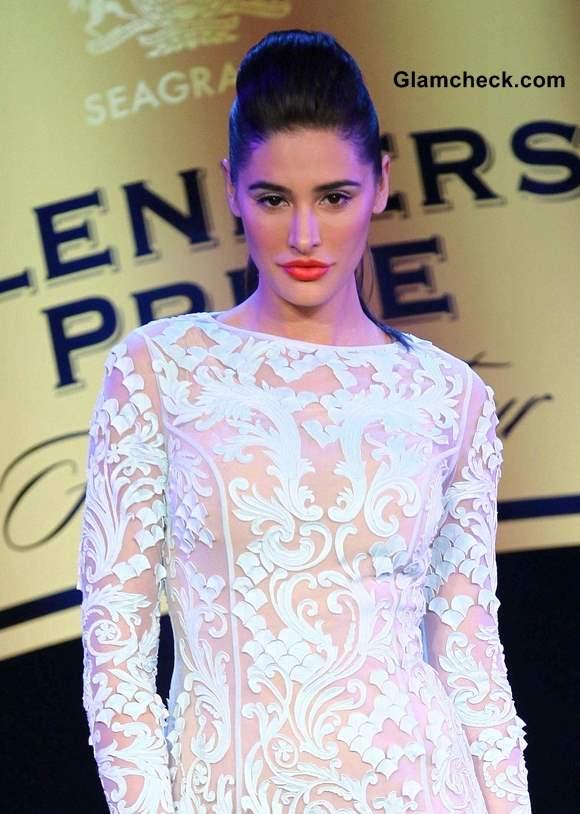 Nargis Fakhri Showstopper for Pankaj and Nidhi at Blenders Fashion Pride Tour 2013