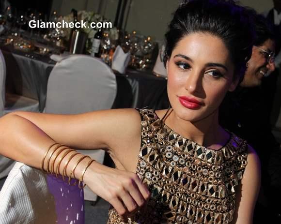Nargis Fakhri at amfAR India 2013