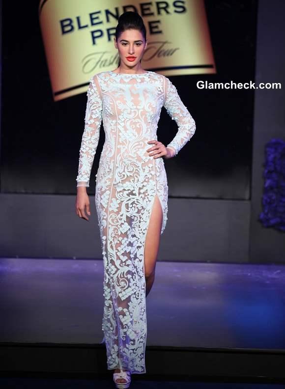 Nargis Fakhri for Pankaj and Nidhi at Blenders Fashion Pride Tour 2013