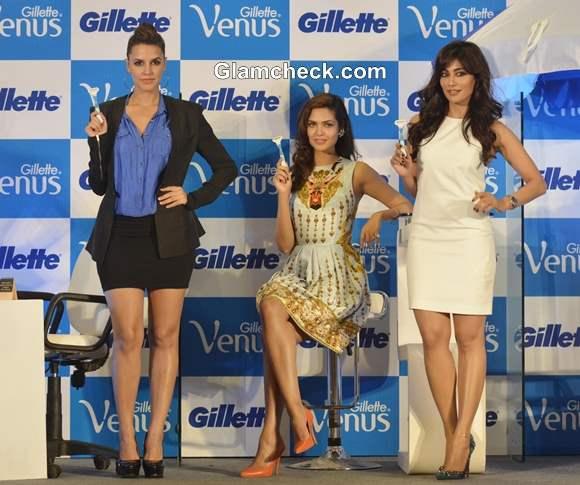 Neha Dhupia Esha Gupta and Chitrangada Singh Launch Gillette Venus Razor