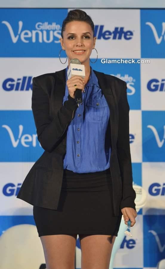 Neha Dhupia Launches Gillette Venus Razor